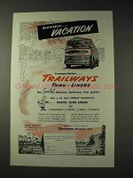 1953 Trailways Bus Ad - Vacation