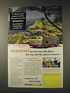 1952 Trailways Bus Ad - More Thru-Busses