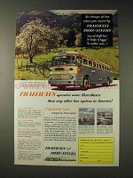 1952 Trailways Bus Ad - Operates More Thru-Busses
