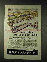 1943 Greyhound Bus Ad - This Army Moves by Greyhound