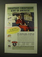 1937 Greyhound Bus Ad - Smartest Smoothest Ride