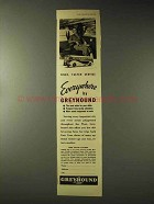 1937 Greyhound Bus Ad - Everywhere by Greyhound
