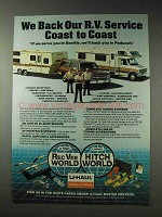 1981 U-Haul Moving Ad - We Back Our R.V. Service