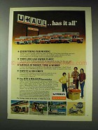 1980 U-Haul Moving Ad - Has It All