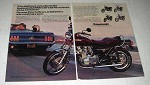 1980 Kawasaki KZ1000 LTD Motorcycle Ad - Clean Air
