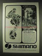 1973 Shimano Bicycle Ad - Finest Quality The World Over