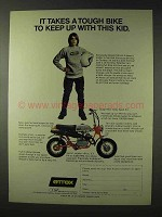 1972 Attex Sport 5.3 Motor Bike Ad - Tough to Keep Up
