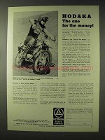 1972 Hodaka Motorcycle Ad - The One For The Money