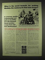 1972 Hodaka Motorcycle Ad - Secret Formula Lasts Longer