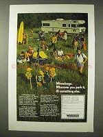 1971 Winnebago Motor Home Ad - Wherever You Park It