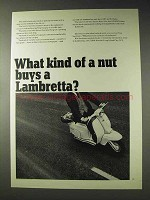 1965 Lambretta Motor Scooter Ad - What Kind of a Nut?