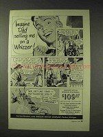 1949 Whizzer Motor Bike Ad - Imagine Dad Selling Me On