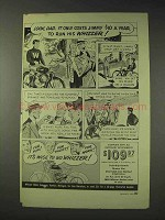 1949 Whizzer Motor Bike Ad - Costs Jimmy $10 a Year