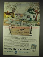 1937 Sherwin-Williams Paint Ad - More Homes Painted