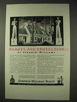 1936 Sherwin-Williams Paint Ad - Beauty and Protection