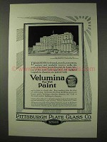 1927 Pittsburgh Plate Glass Velumina Flat Wall Paint Ad