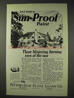 1923 Pittsburgh Plate Glass Patton's Sun-Proof Paint Advertisement