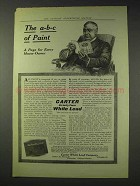 1914 Carter Strictly Pure White Lead Paint Ad - A-B-C