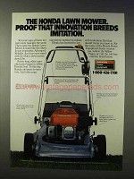 1988 Honda Lawn Mower Ad - Innovation Breeds Imitation