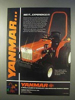 1986 Yanmar YM187D Tractor Ad - Experience It