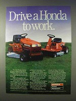 1986 Honda 3813 Lawn Tractor, Riding Mower Ad