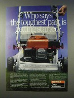 1986 Honda Lawn Mower Ad - The Toughest Part