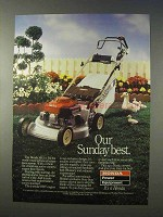 1985 Honda HR214 Lawn Mower Ad - Sunday Best