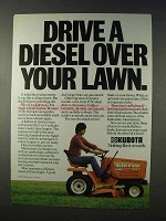 1984 Kubota G5200 Lawn Tractor Ad - Drive a Diesel
