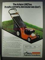 1984 Ariens LM21se Lawn Mower Ad - It Cuts Corners