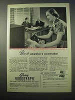 1953 Gray Audograph Dictation Instrument Ad