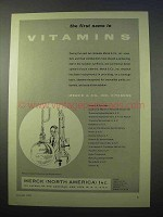 1953 Merck Vitamins Ad - The First Name In