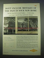 1953 Dow Chemicals Penta-Treated Lumber Ad - New Home