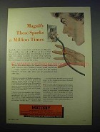 1953 Mallory Electronics Ad - Magnify These Sparks