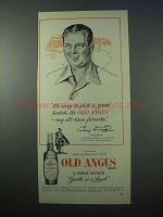 1953 Old Angus Scotch Ad - Golfer, Craig Wood