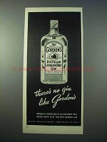 1953 Gordon's Distilled London Dry Gin Ad - No Gin Like