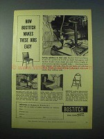 1953 Bostitch Staples Ad - Makes These Jobs Easy