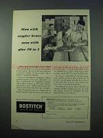 1953 Bostitch Staples Ad - Stapler Beats Glue 10 to 1