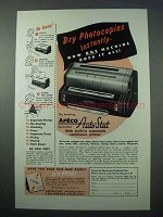 1953 Apeco Auto-Stat Copier Ad - Photocopies Instantly