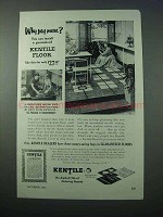 1953 Kentile Floor Ad - Why Pay More?