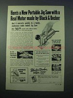 1953 Black & Decker Portable Jig Saw Power Tool Ad