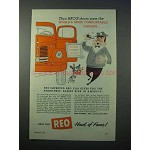 1953 REO Truck Ad - World's Most Comfortable Drivers