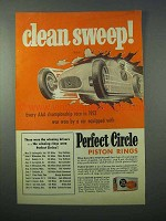 1953 Perfect Circle Piston Rings Ad - Clean Sweep