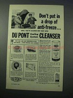 1953 Du Pont Cooling System Cleanser Ad - Anti-Freeze