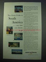 1953 Moore-McCormack Lines Cruise Ad - South America
