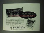 1953 South Africa Tourism Ad - Land of Contrast