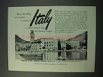 1953 Italy Tourism Ad - Most Rewarding of Summers