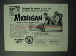 1953 Michigan Tourism Ad - Designed by Nature