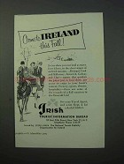 1953 Ireland Tourism Ad - Come This Fall