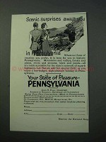 1953 Pennsylvania Tourism Ad - Scenic Surprises Await