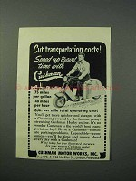 1953 Cushman Scooter Ad - Cut Transportation Costs